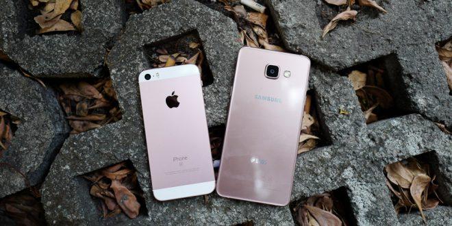 So sánh Samsung Galaxy A5 và Apple iPhone SE