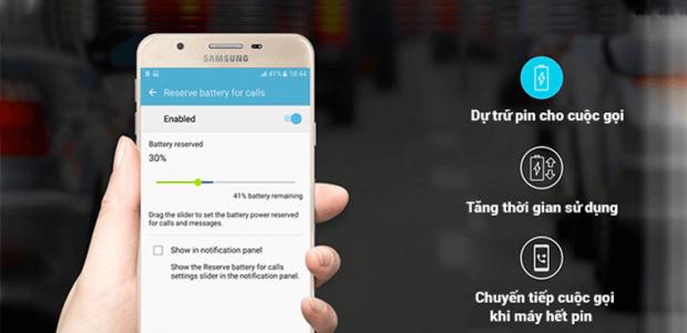 3 tính năng tiết kiệm pin độc và lạ chỉ có trên Samsung Galaxy J7 Prime