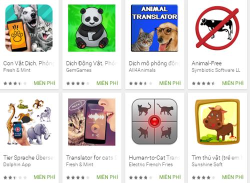 phiên dịch tiếng động vật