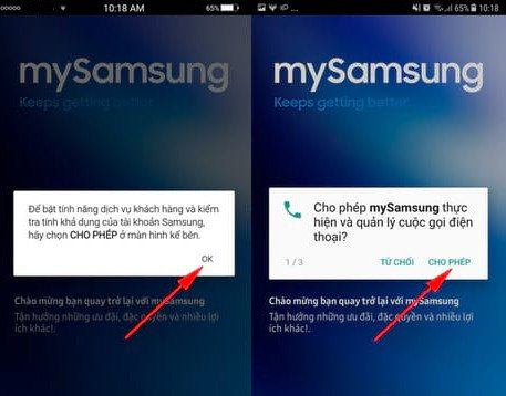 Kiểm trabảo hành điện thoạiSamsung qua MySamsung 01