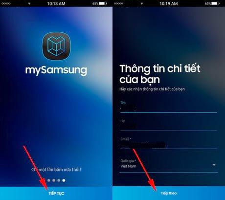 Kiểm trabảo hành điện thoạiSamsung qua MySamsung 03