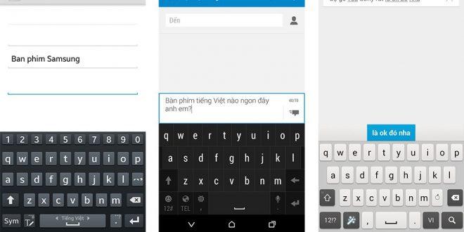 Cách viết có dấu trong điện thoại Samsung