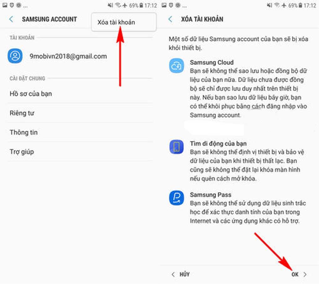 cách xóa tài khoản Samsung Account hình 3