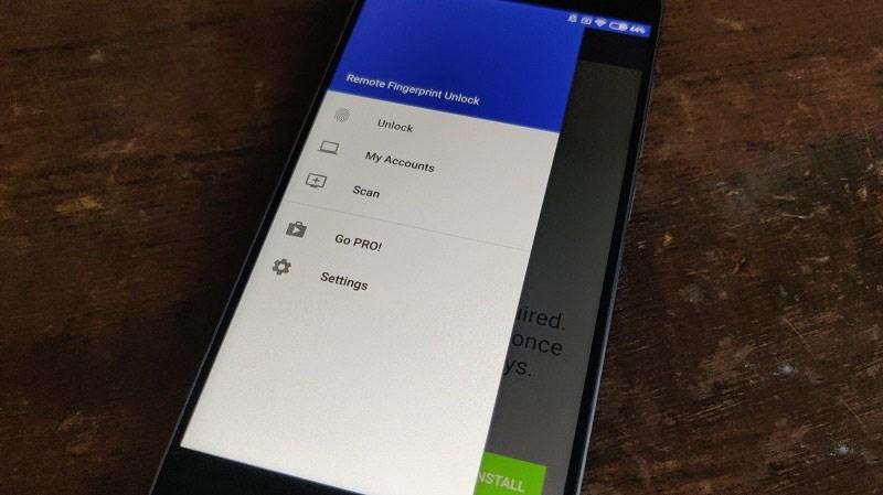 mo khoa may tinh Windows bang van tay tren dien thoai Samsung