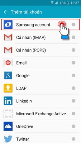 cách tạo tài khoản Samsung Account hình 4