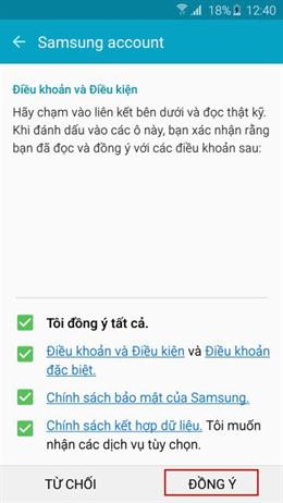 cách tạo tài khoản Samsung Account hình 6