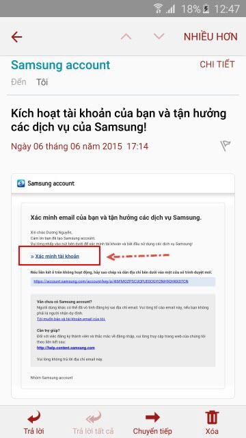cách tạo tài khoản Samsung Account hình 10