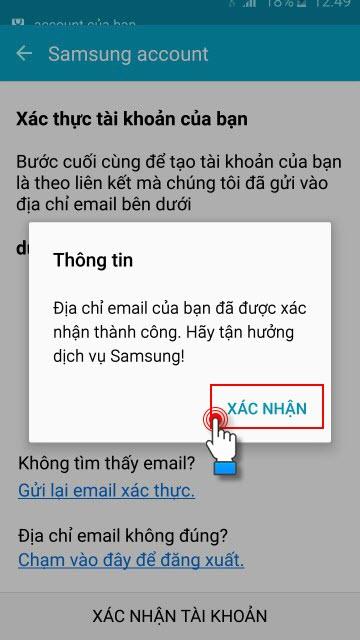 cách tạo tài khoản Samsung Account hình 11